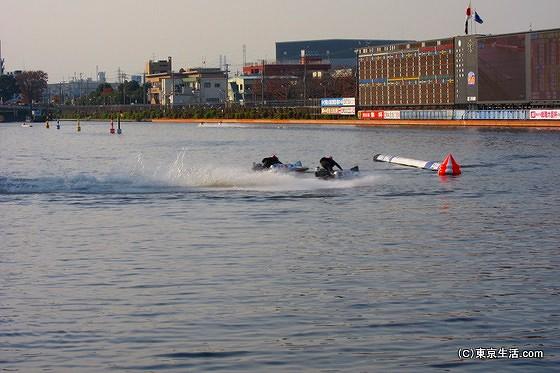 戸田競艇場でのボートレース