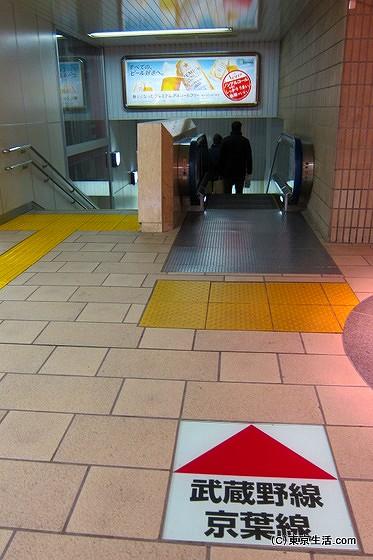 東京駅京葉線ホームへ