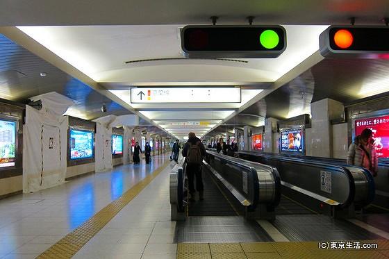 京葉線ホームへの歩く歩道