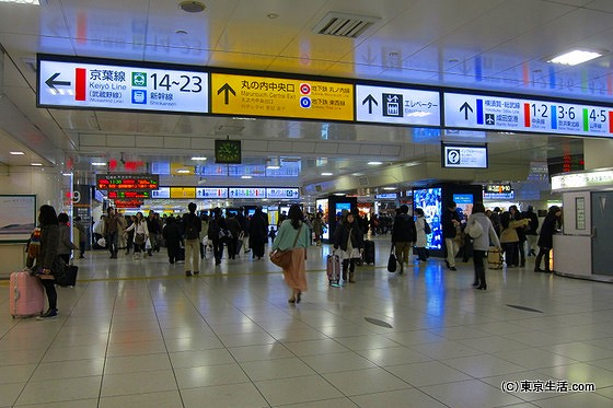 東京駅構内図コンコース