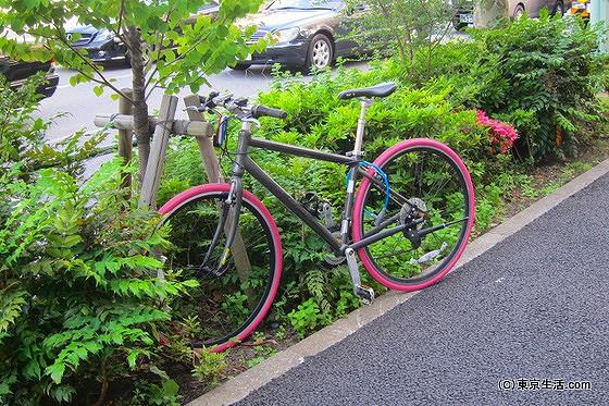 自転車が多い豊洲