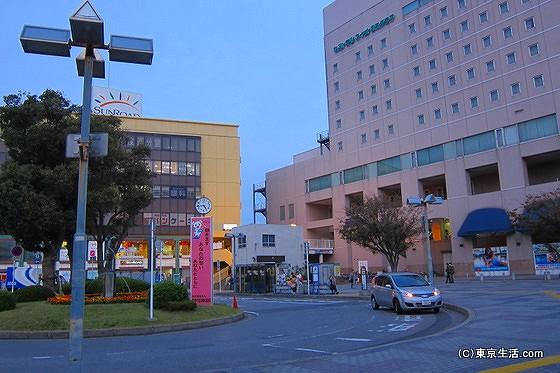 京成津田沼駅前のロータリー