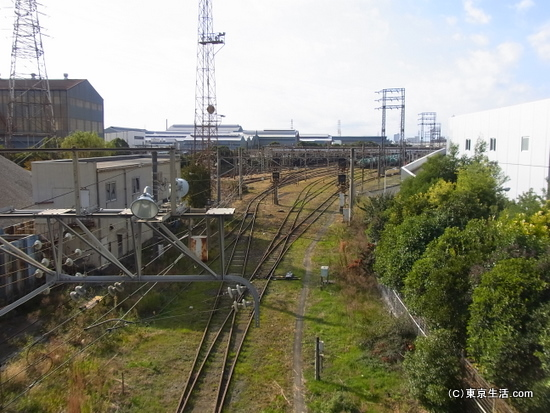 鶴見線の貨物基地