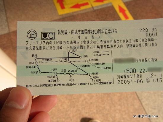 鶴見線の切符