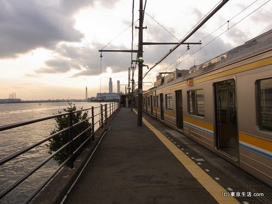 黄昏の海芝浦|鶴見線の散歩