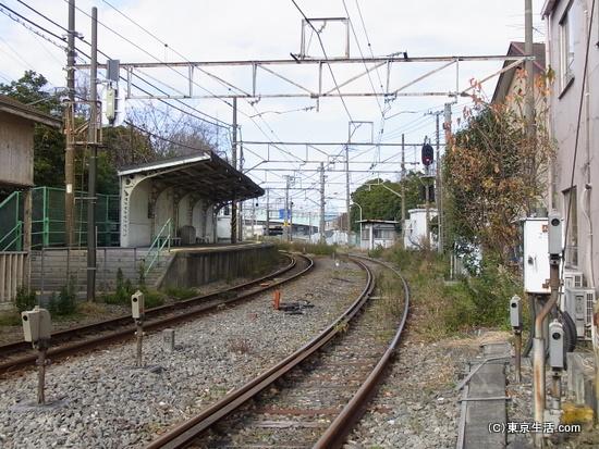 昭和駅のホーム