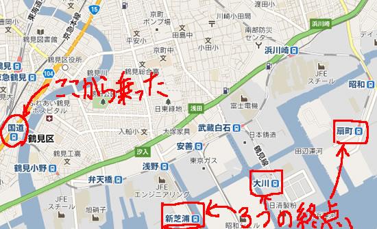鶴見線の路線図