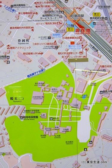 鶴見の地図