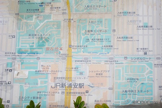 浦安の団地の地図