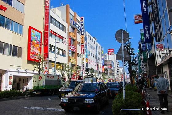 蕨駅周辺の道路