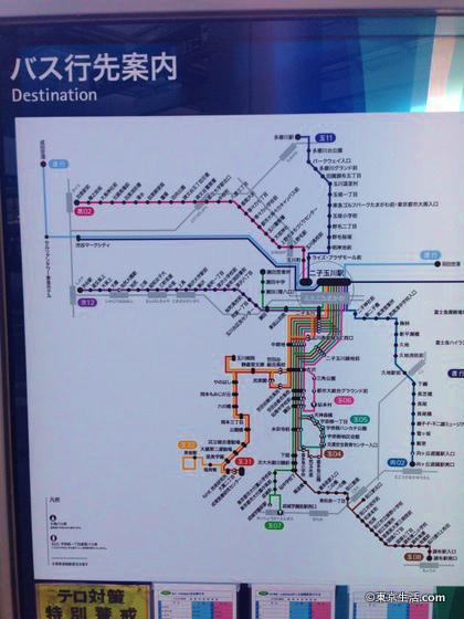 二子玉川のバス路線