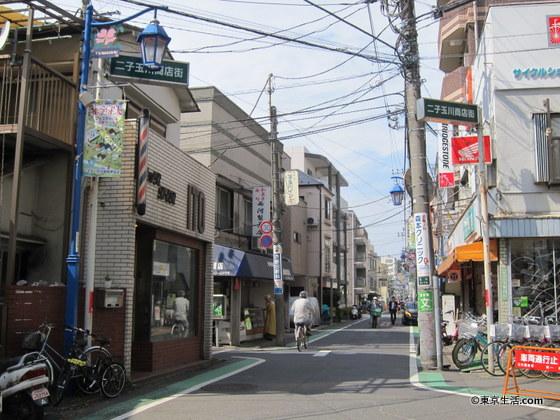 二子玉川の商店街