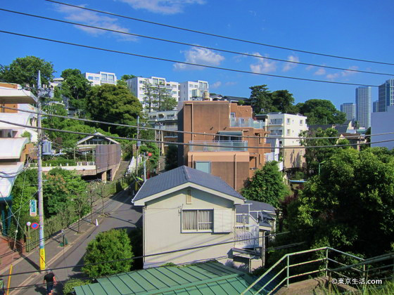 高台の高級住宅街と国分寺崖線
