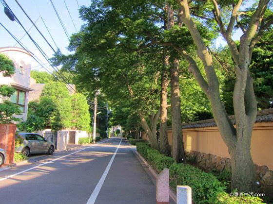 上野毛の高級住宅街
