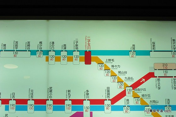 路線図|二子玉川駅の電車とバスは便利?の画像