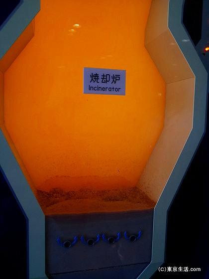 焼却炉の模型