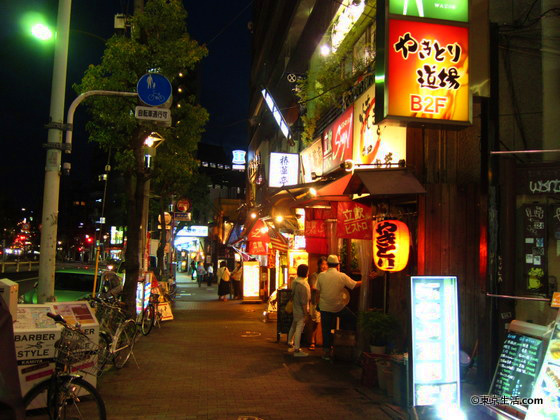 目黒の夜の飲食店