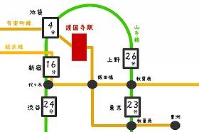 路線図|護国寺駅の路線とバス
