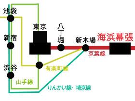路線図|海浜幕張駅の路線とバス