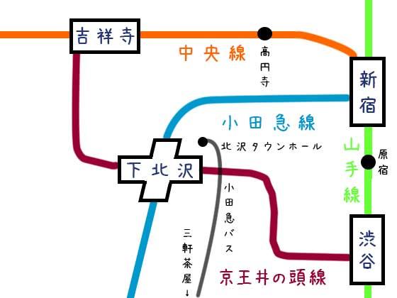 路線図と構内図|下北沢駅の電車とバスは便利?の画像